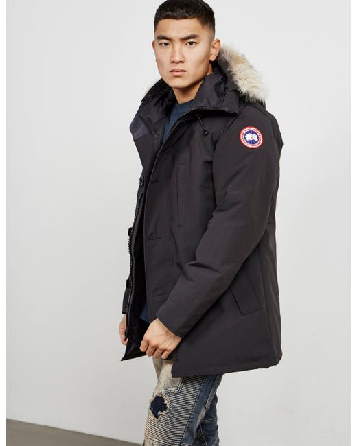 Canada Men S Sevens: Canada Goose Mens Chateau Padded Parka Jacket Black In