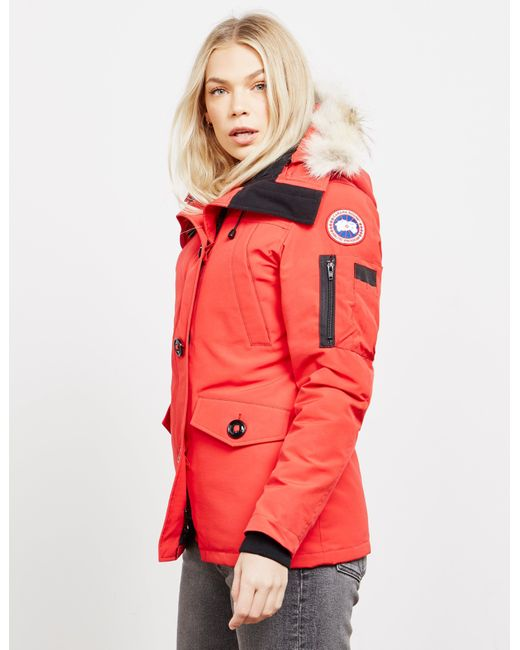 15c0ef54f0e0d Canada Goose Montebello Parka in Red - Save 7% - Lyst