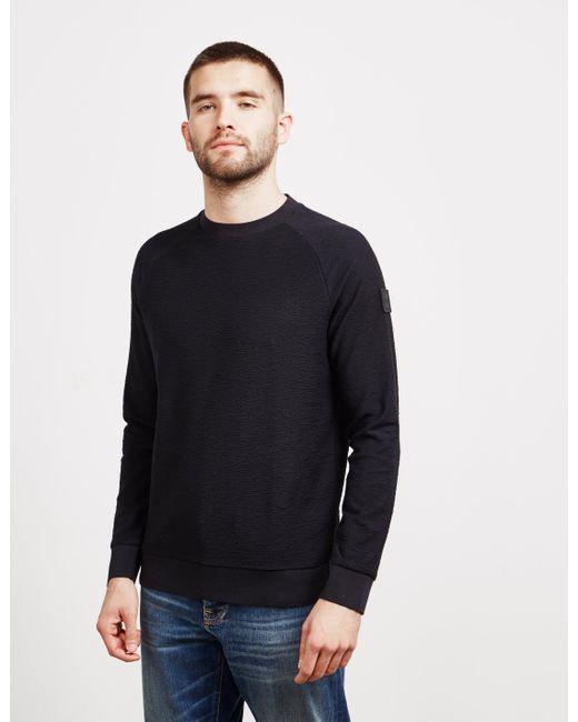 b12bd87c0 BOSS Waldo Sleek Sweatshirt Black in Black for Men - Lyst