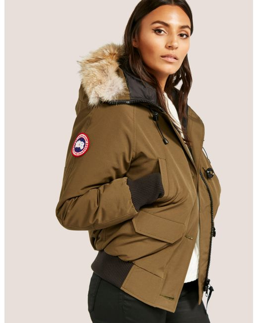 Canada Goose - Womens Chilliwack Padded Bomber Jacket Green - Lyst ...