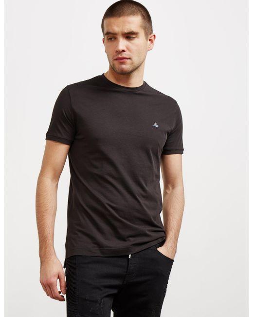 Vivienne Westwood - Mens Orb Short Sleeve T-shirt Black for Men - Lyst