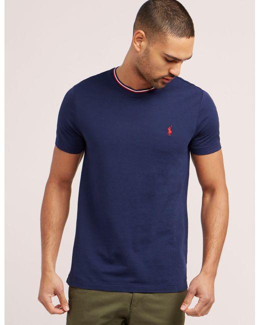 Polo Ralph Lauren | Blue Tipped Short Sleeve T-shirt for Men | Lyst