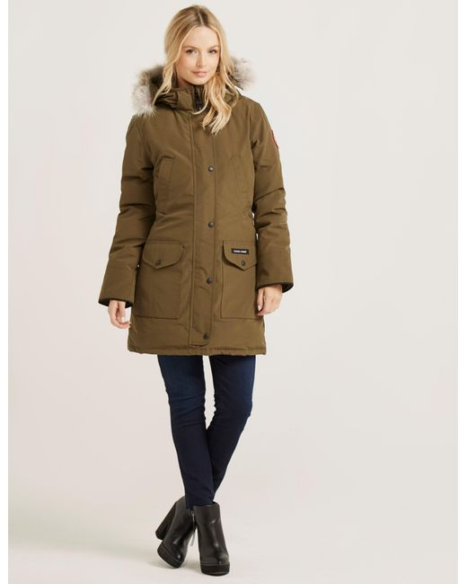 41bc1906b76 Canada Goose Trillium Padded Parka Jacket Green in Green - Save 20 ...