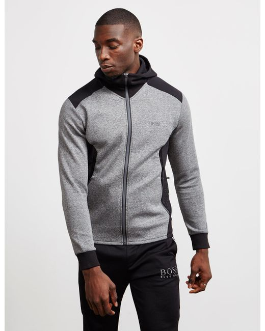 407c926e BOSS - Gray Selnio Full Zip Hoodie - Online Exclusive Grey for Men - Lyst  ...