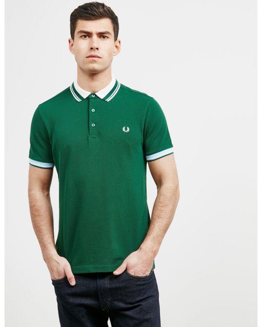 d6c5d673c125d Mens Contrast Collar Short Sleeve Polo Shirt Ivy Green/ivy Green