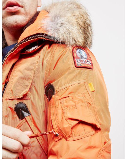 ... Parajumpers - Mens Gobi Bomber Jacket Orange for Men - Lyst ...