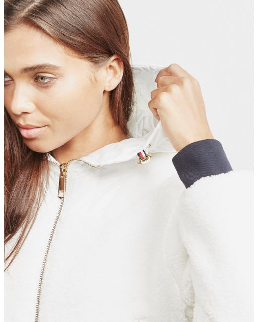 e6d950755141 ... Tommy Hilfiger - Annabel Terry Reversible Bomber Jacket White - Lyst ...