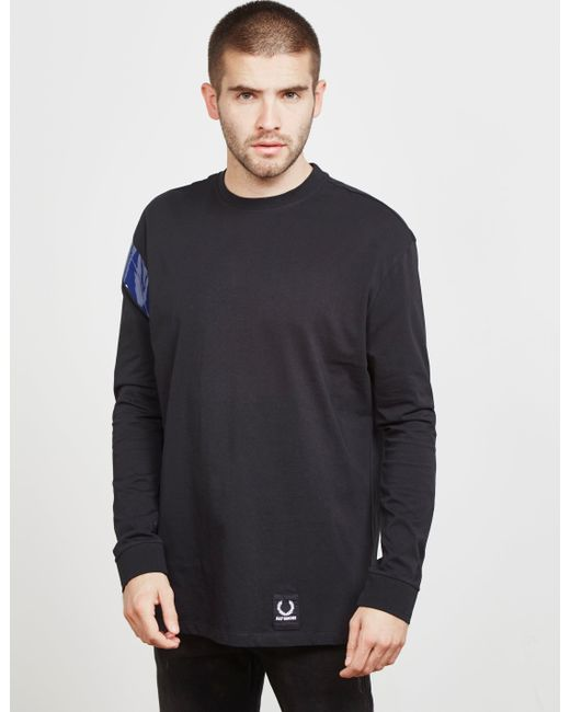 60b522c7 Fred Perry - X Raf Simons Long Sleeve Tape T-shirt Black for Men ...