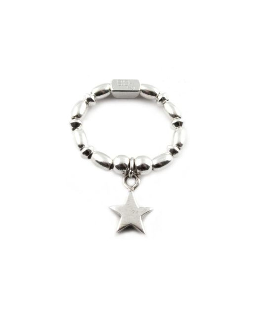 ChloBo - Metallic Rice & Disc Ring With Star Charm - Lyst