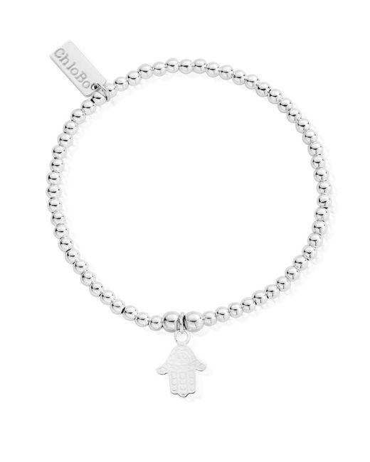 ChloBo - Metallic Cute Charm Bracelet With Hamsa Hand Charm - Lyst