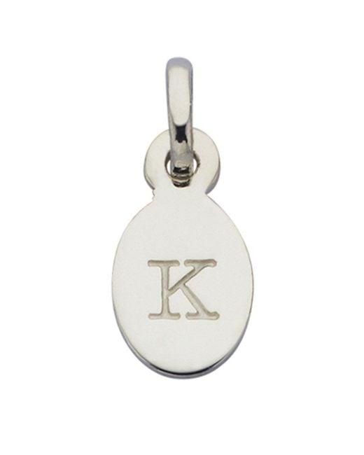 KIRSTIN ASH - Metallic Bespoke Alphabet 'k' Charm - Lyst