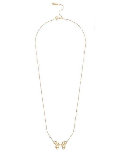 Olivia Burton - Metallic Butterfly Wing Necklace - Lyst