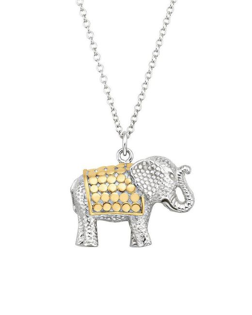 Anna Beck - Metallic Elephant Charity Necklace - Lyst
