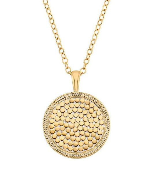 Anna Beck - Metallic Medallion Necklace - Lyst