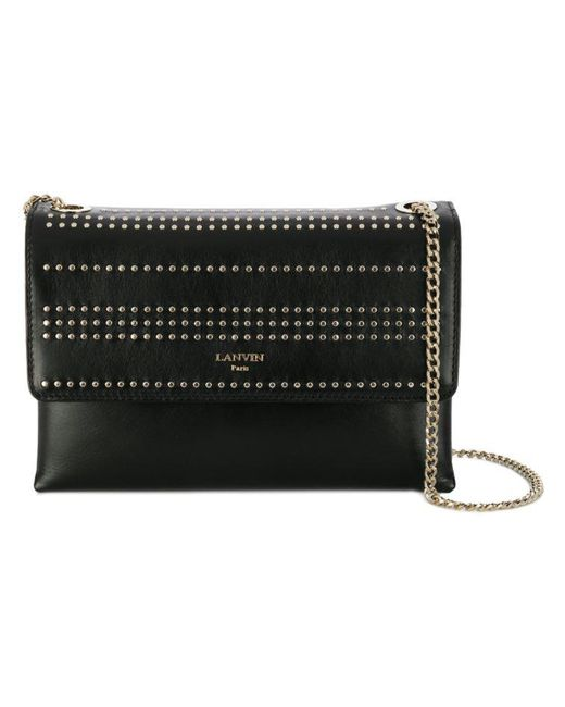 Lanvin - Black Mini Sugar Stud Handbag - Lyst