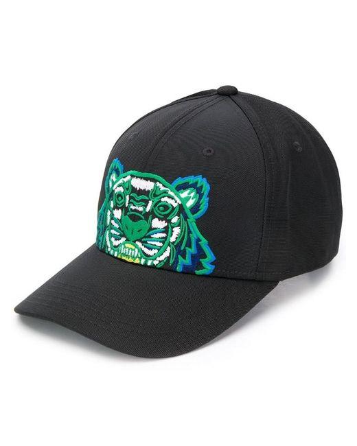 KENZO - Black Embroidered Tiger Logo Cap for Men - Lyst