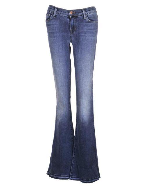 J Brand - Blue Sneaker Flare Jeans - Lyst