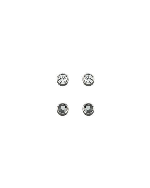 Swarovski | Metallic Harley Jet Hematite Pierced Earrings Set | Lyst