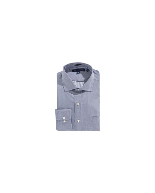Tommy Hilfiger | Blue Egyptian Cotton Regular Fit Dress Shirt for Men | Lyst