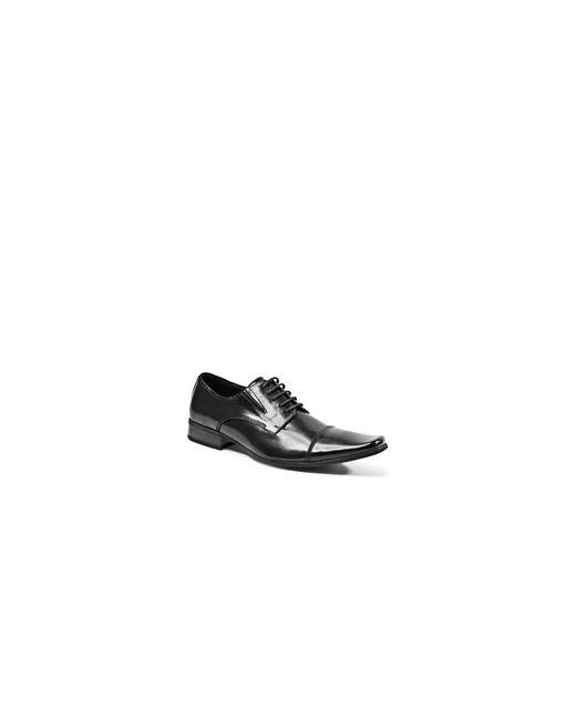 Steve Madden | Black Leather Cap-toe Oxfords for Men | Lyst