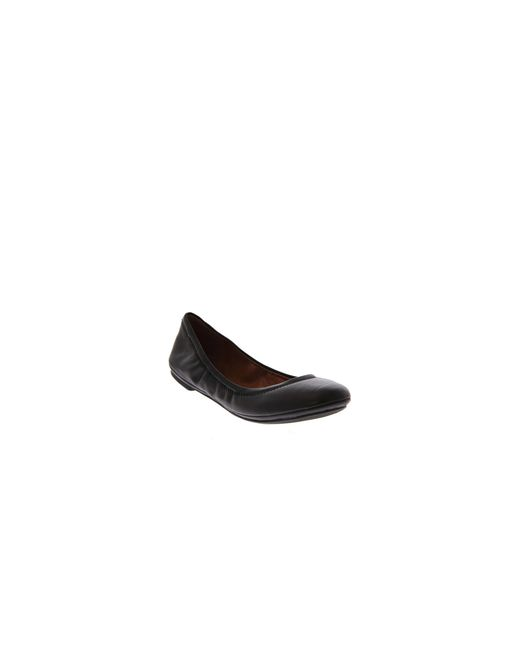 Lucky Brand | Brown Emmie Leather Ballet Flats | Lyst