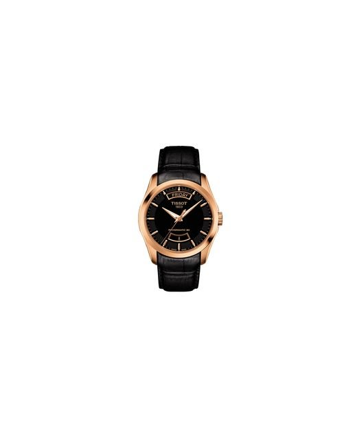 Tissot | Pink Analog Couturier Gts Rose-goldtone Leather Strap Watch for Men | Lyst