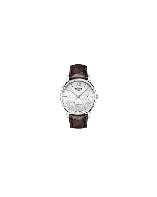 Tissot | Metallic Analog Tradition Stainless Steel Leather Strap Watch for Men | Lyst