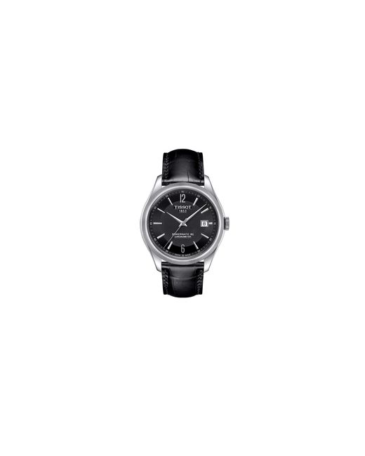 Tissot | Metallic Analog Automatic Ballade Stainless Steel Leather Strap Watch for Men | Lyst