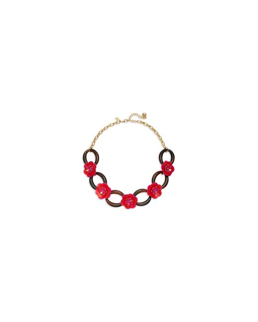 Kate Spade | Pink Rosy Posies Link Necklace | Lyst