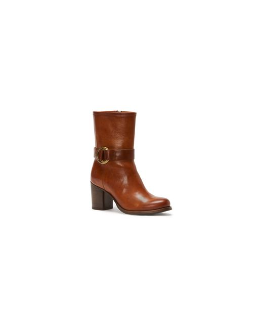 Frye | Brown Addie Harness Leather Mid-calf Boots | Lyst