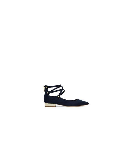 ALDO | Black Marieta Crisscross Ankle Strap Flats | Lyst