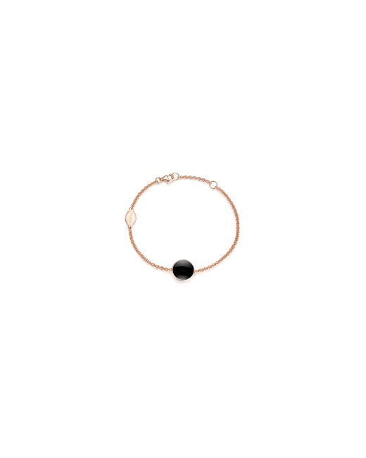 PIARA | Black Rose Goldplated Sterling Silver And Onyx Bracelet | Lyst