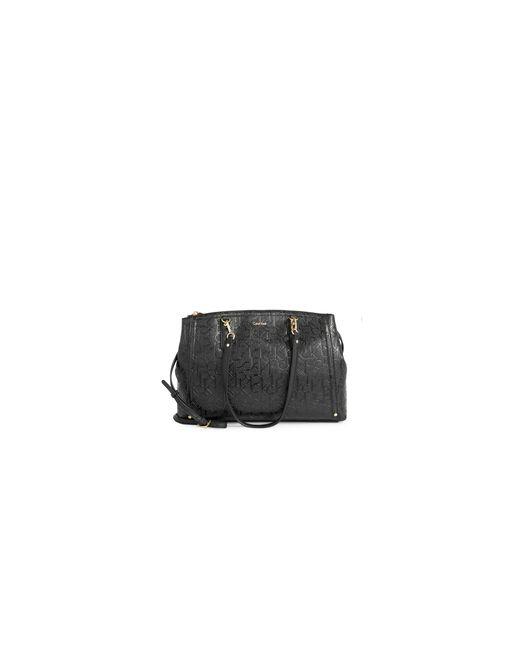 Calvin Klein | Black Embossed Satchel | Lyst