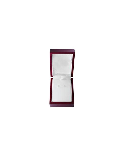 Effy   Metallic 14k White Gold Stud Earrings With 0.33 Total Carat Weight Diamonds Box Set   Lyst