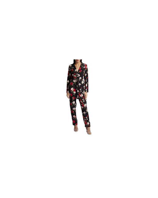 Missguided | Black Floral Notch Jumpsuit | Lyst