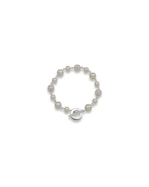 Carolee   Metallic Crystal Fireball And White Pearl Bracelet   Lyst