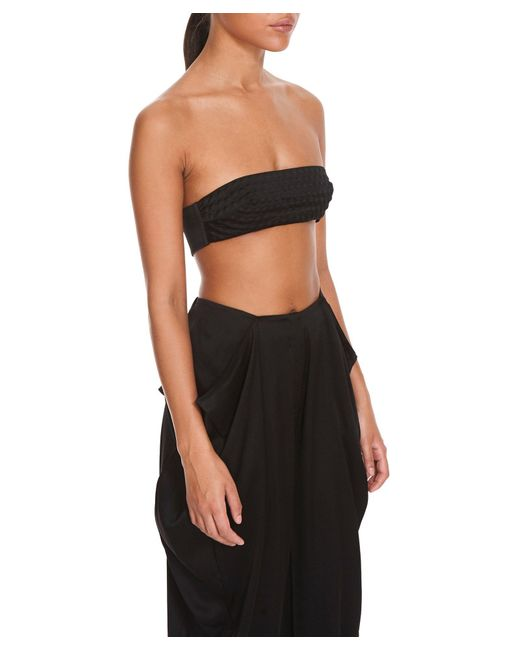Bevza Bubble-wrap Silk Women Black Bustier