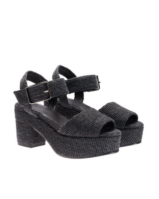 Castaner - Black Fabric Sandals - Lyst