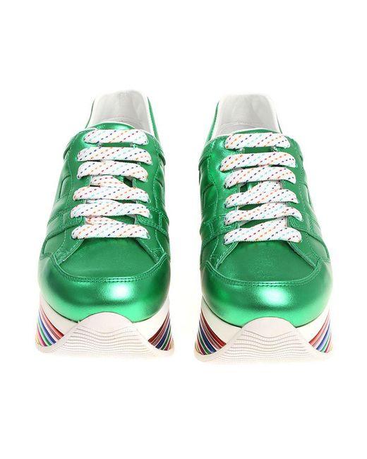 Laminated green H352 sneakers Hogan 4jaGT8