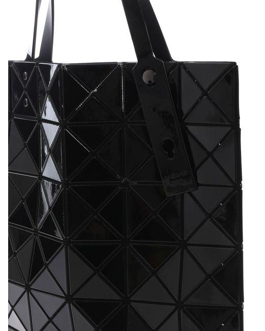 f489127c74 ... Bao Bao Issey Miyake - Lucent Black Bag With Triangular Pattern - Lyst  ...