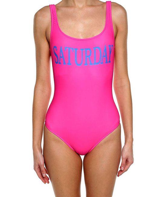 Alberta Ferretti - Purple Fuchsia Lycra Saturday Swimsuit - Lyst