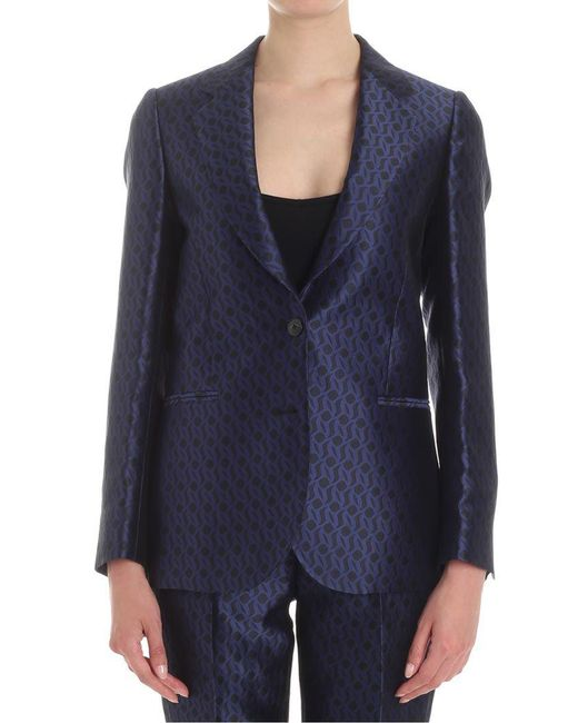 Paul Smith - Blue And Black Jacquard Jacket - Lyst