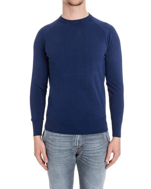 Aspesi - Blue Roundneck Sweater for Men - Lyst