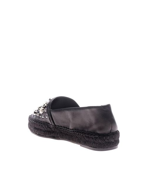 Black espadrilles with studs and logo Karl Lagerfeld avhw6