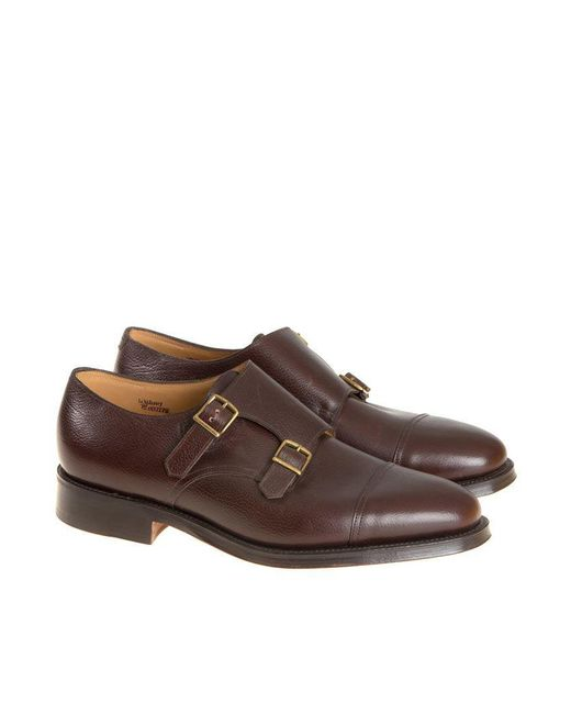 John Lobb - Brown William Leather Monk-strap Shoes for Men - Lyst