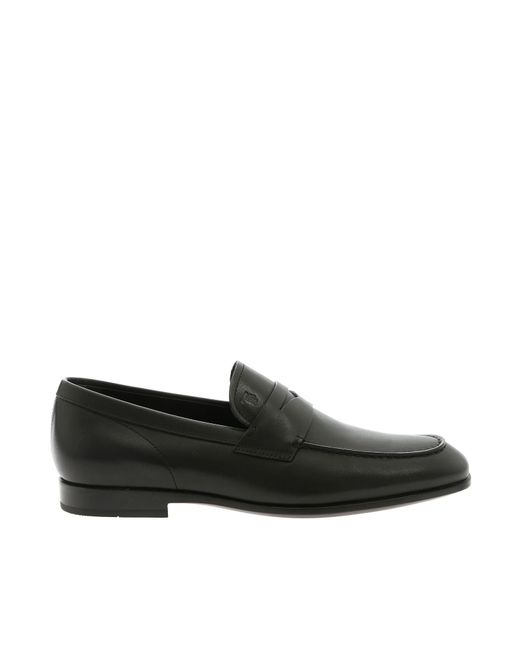 4e01340ae25 Lyst - Tod s Hogan Black Loafers With Logo in Black for Men