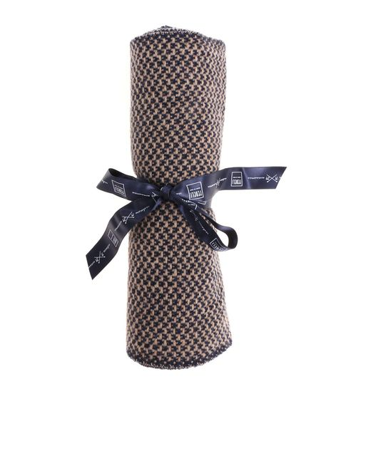 Fedeli - Blue And Beige Jacquard Scarf for Men - Lyst