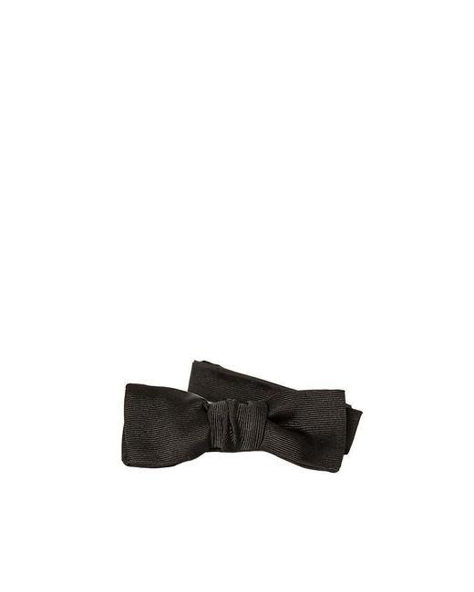 Saint Laurent - Black Silk Bow Tie for Men - Lyst