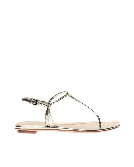 3d0ba03e963 Prada - Multicolor Laminated Leather Thong Sandals - Lyst ...