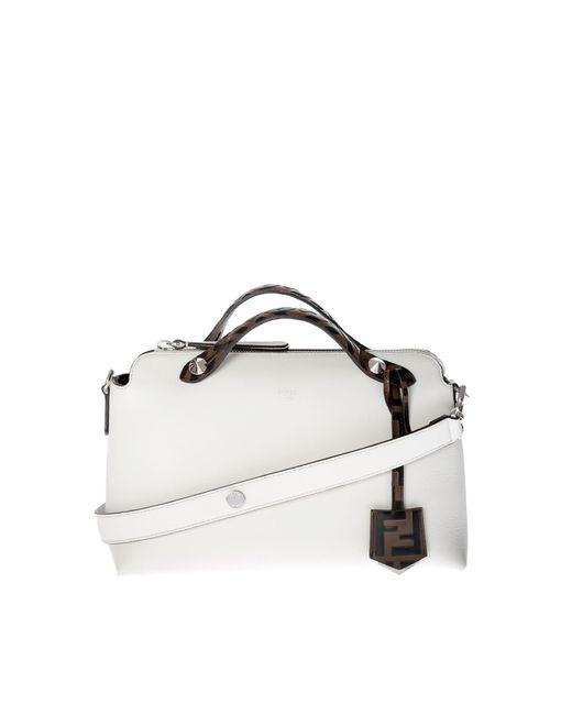 002cfca66f53 Lyst - Fendi White Medium By The Way Handbag in White